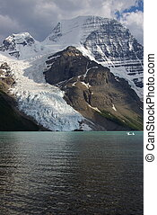 Mt Robson 1 - Mt Robson and Berg Lake in British Columbia,...
