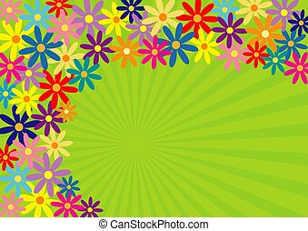 Springtime! - Colorful springtime flower background