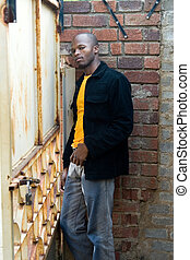 young african man - Young African man dressed casual. All...
