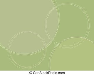 Graphic background 3 - Green background with circles Image...