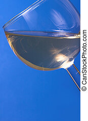 Glass Of White Wine 5 - Detail of a glass on white wine on a...