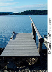 Quay for small boats in the Oslofjord, Norway