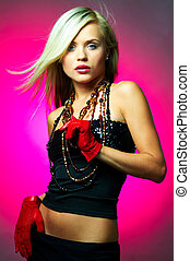 Woman portrait - Portrait of beautiful young sexy woman on...