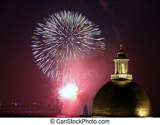 Fourth of July Fireworks in Boston 2006