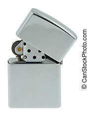 chrome lighter on pure white background 3