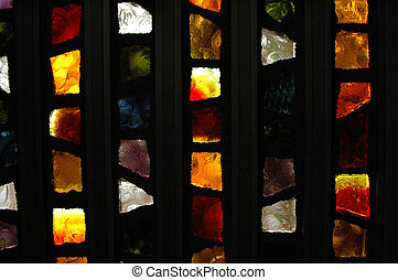Stained glass door - Beautiful stained glass church