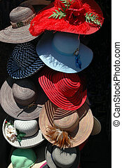 Womens Hats - For sale at an outdoor festival
