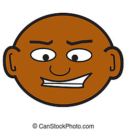bald dude - a clip art of a crazy bald guy