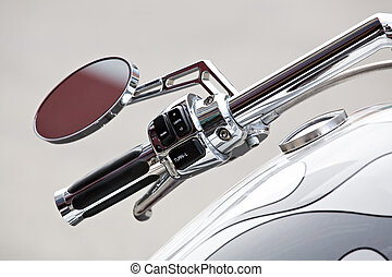 motorcycle detail - motorcycle - chopper details, handlebar...