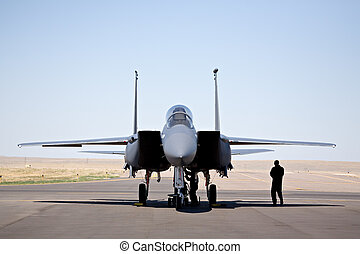 F-15 strike eagle - military aircraft - F-15 strike eagle on...