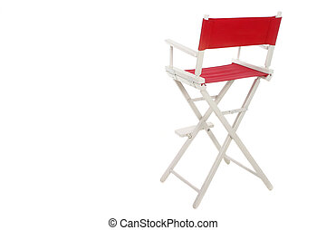 Directors Chair 1 - Director\\\'s chair with red seat and...