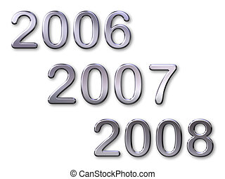 2007 - New year 2007 with silver bevel text