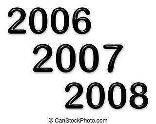 2007 - New year 2007 with black bevel text