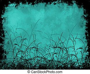 Foliage grunge - Foliage on grunge background