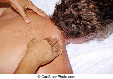 Massage - Woman receiving massage