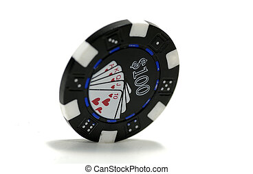 Poker Chip - 100 Dollar Poker Chip
