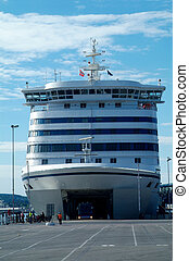 Car-ferry in Norway - The ferry between Copenhagen and Oslo...