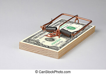 Money Trap - Photo of a Money Mouse Trap