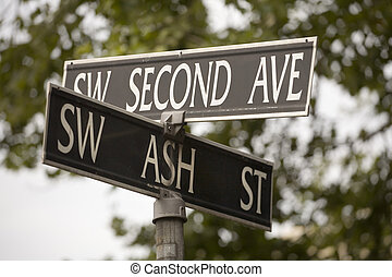 Stock Photo of a Street Sign - Photo of a street sign for SW...