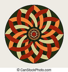 rozeta complicata - geometric decorative rosette