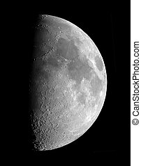 first quarter moon - First quarter Moon, photographed on...