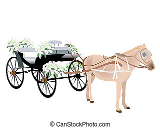 Wedding Carriage Illustration
