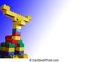 Building Blocks 2a - Child\\\'s Creation, Moose in Blue...