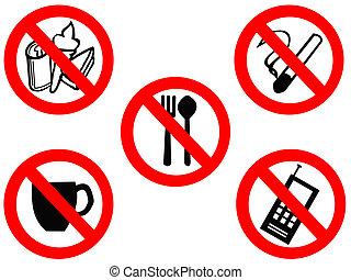eating smoking prohibited signs - eating drinking smoking...