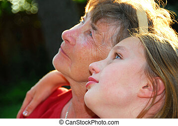 Generation - Portrait of a grandmother and granddaughter...