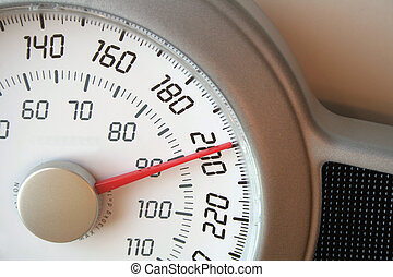 Weight Scale 200 - A closeup of a weight scale.