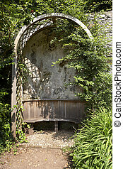 garden retreat - alcove and arbour in a garden, dartmouth...