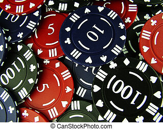 Gambling Chips - Set of gambling chips