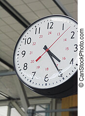 clock in airport