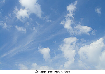 Nature creations 20 - fine clouds pattern on blue sky,...