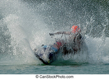 Jetski2 - A jetski making splash