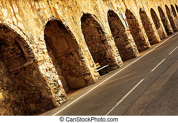 Antibes #208 - The old Harbour blocking wall at Baie Des...