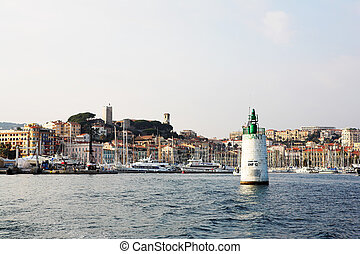 cannes 47 - The harbor Port Le Vieux in Cannes, France, with...