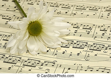 Sheetmusic - Flower on Sheetmusic
