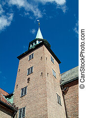 Tower at Akershus, Oslo - Tower of the medieval fortress...