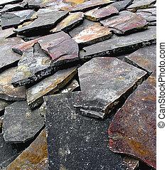 slate - a pile of slate