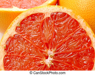 Ruby grapefruit - Close-up of a half cut ruby grapefruit