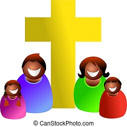 Christian family - Religious ethnic family - icon people...