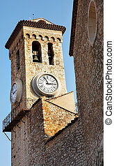Cannes #35 - Clock tower on the La Tour Du Suquet in Cannes,...