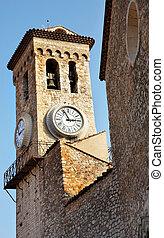 Cannes #35 - Clock tower on the La Tour Du Suquet in Cannes,...