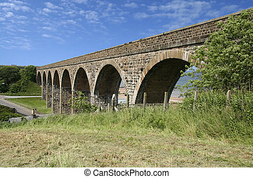cullen viaduct - Former railway viaduct with arches at...