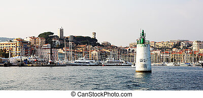 Cannes #48 - The harbor (Port Le Vieux) in Cannes, France,...