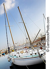 Cannes #52 - Yachts in the the harbor (Port Le Vieux) in...