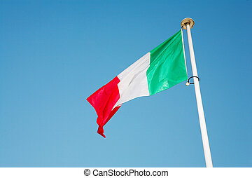 Cannes #58 - Italian Flag blowing in the wind