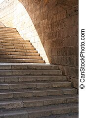 Stairway to light - Historical stairway up to the...