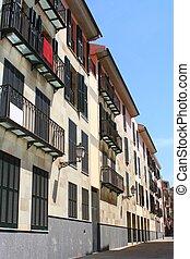 Facade - The facade of historical town buildings